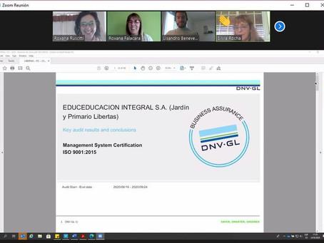 Hemos logrado la continuidad del certificado de las normas ISO 9001:2015 de Calidad Educativa!