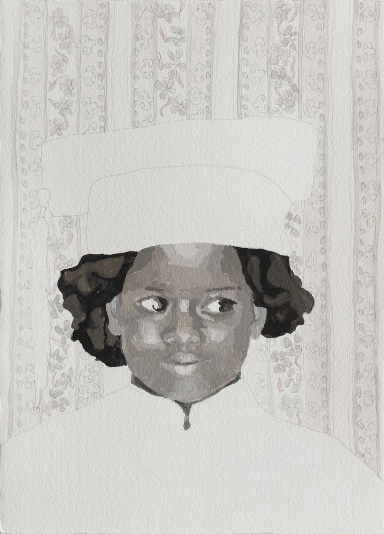 girl in kitchen, 2019