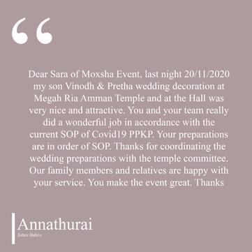 Annathurai Testimonial