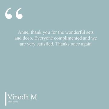Vinodh Testimonial