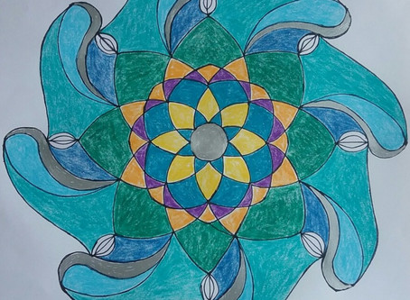Mandalas made at Healing Arts Group