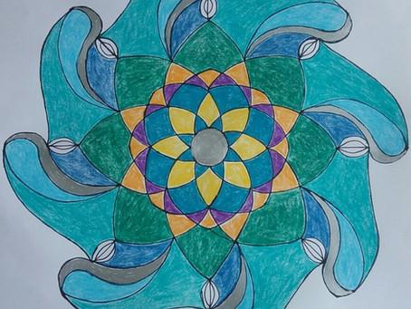 Mandalas made at Healing Arts Group