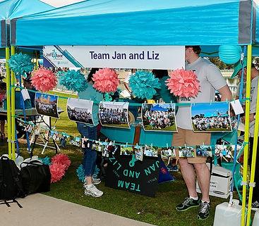 TEAM Jan and Liz decorated tent.jpg