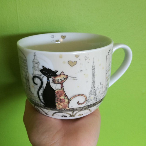Romantic cats- large mug