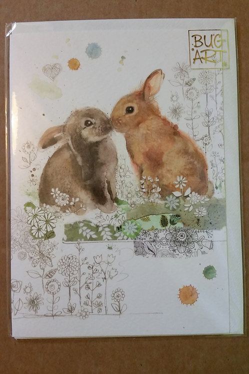 Rabbit kiss card