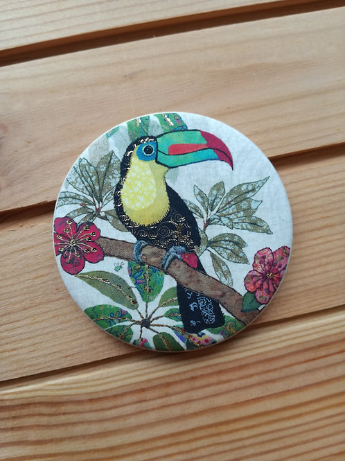 Toucan Round Magnet