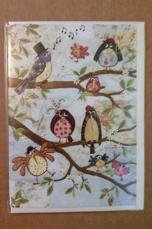 Nine birds card