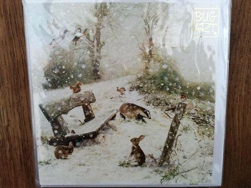 Winter Bench Card