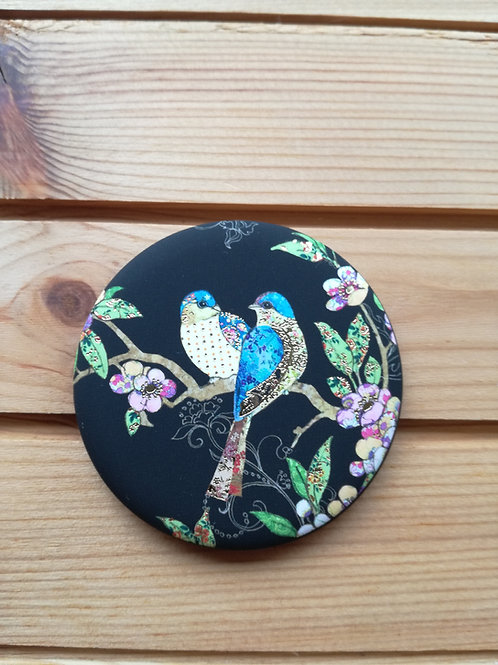 Two Birds Round Magnet