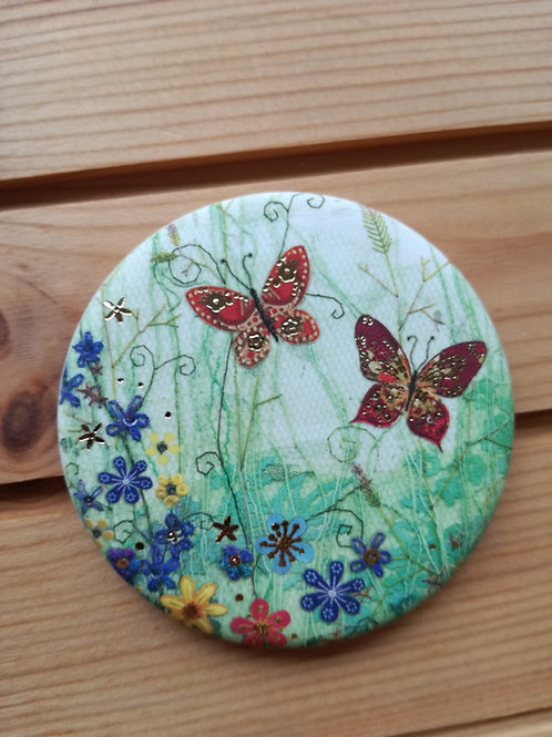 Butterfly Round Magnet
