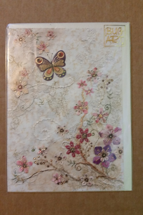 Purple butterfly card
