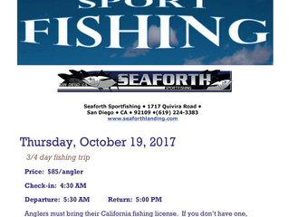 Sport Fishing - October 19, 2017