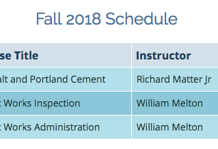 Fall 2018 Classes - Palomar College