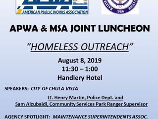 Joint Meeting - APWA and MSA - Aug. 8, 2019