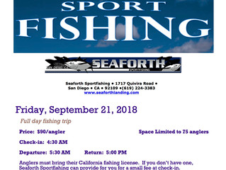 Sport Fishing - September 21, 2018