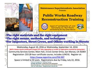 Public Works Roadway Reconstruction Training