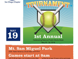1st Annual Softball Tournament - May 19, 2018