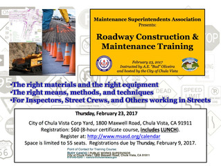 Public Works Roadway Construction & Maintenance Training