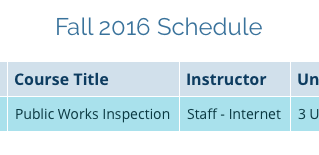 Fall 2016 Classes - Palomar College