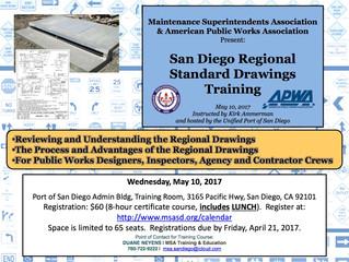San Diego Regional Standard Drawings Training