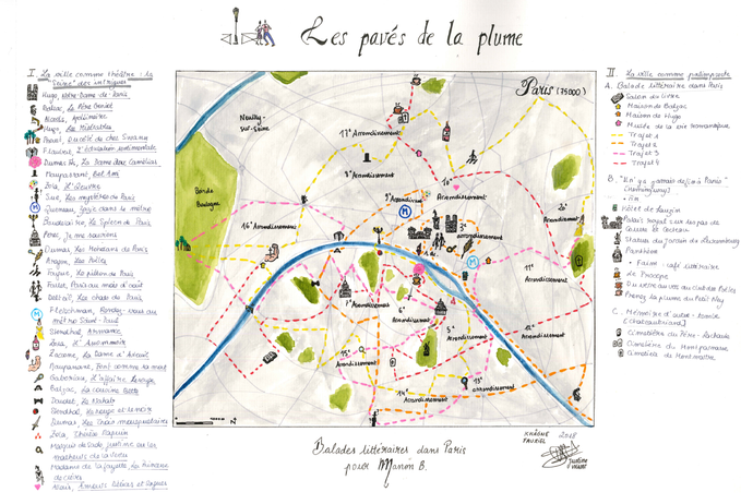 Balade litteraire dans Paris