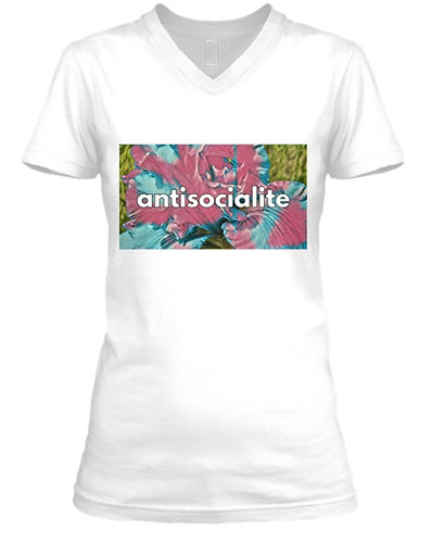 Women's Antisocialite V-neck Tee