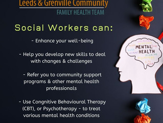 LGCFHT's Social Worker - Call 613-342-4076 to book an appointment!