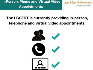 In-Person, Phone and Virtual Video Appointments