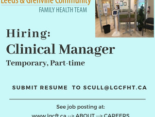 Hiring: Clinical Manager
