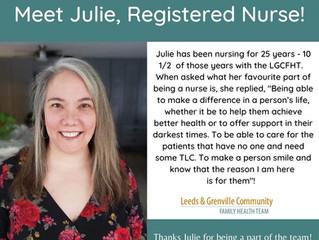 Meet Julie, Registered Nurse!