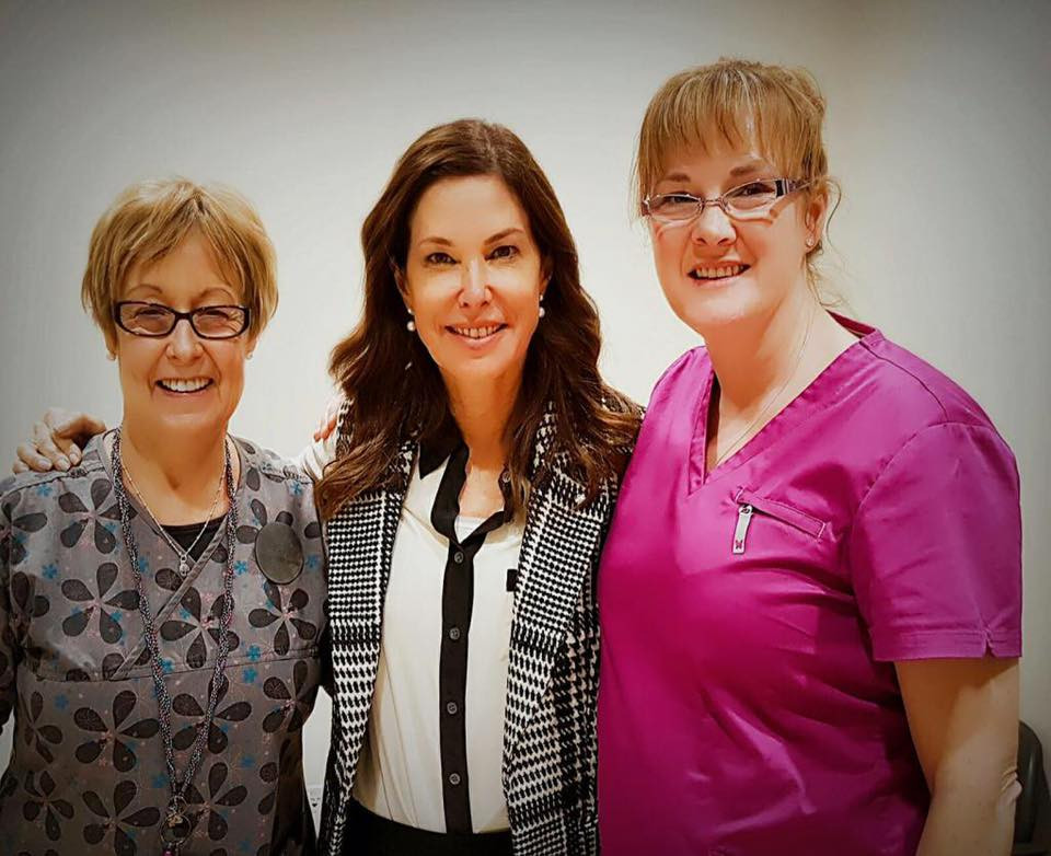 Dr. Marla Shapiro with two LGCFHT staff members