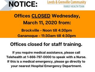 Office Closure Notice: