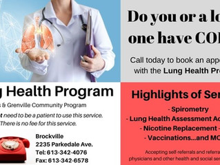 Great Community Lung Health Program!