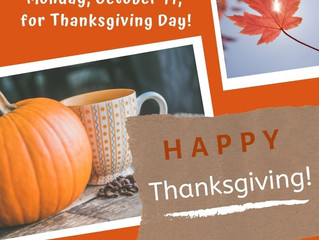 Offices Closed for Thanksgiving holiday!