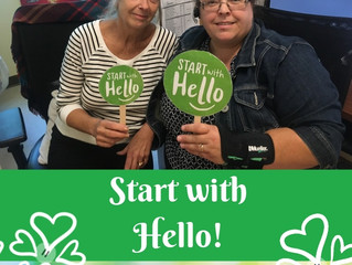 Help others who are dealing with social isolation - Start with Hello!
