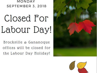 LGCFHT offices will be closed for Labour Day!