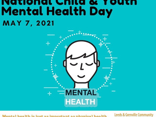 Today is National Child & Youth Mental Health Day!