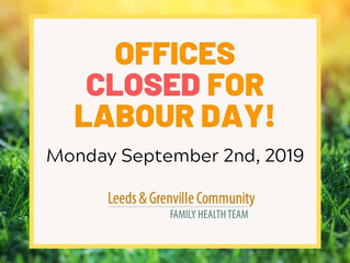 LGCFHT Offices Closed For Labour Day!
