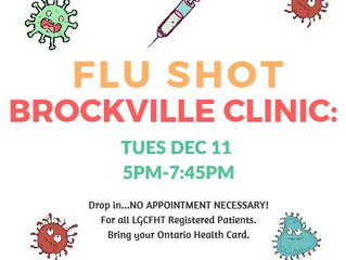 BROCKVILLE OFFICE - FLU CLINIC