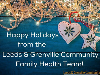 Wishing our Patients & Community Partners a Happy Holiday Season and a Joyous New Year!