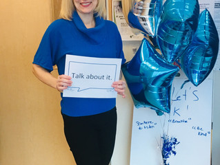 Bell Let's Talk Day!  Raising awareness for mental health with the LGCFHT's Social Worker, A