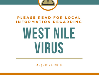 Notice: West Nile Virus