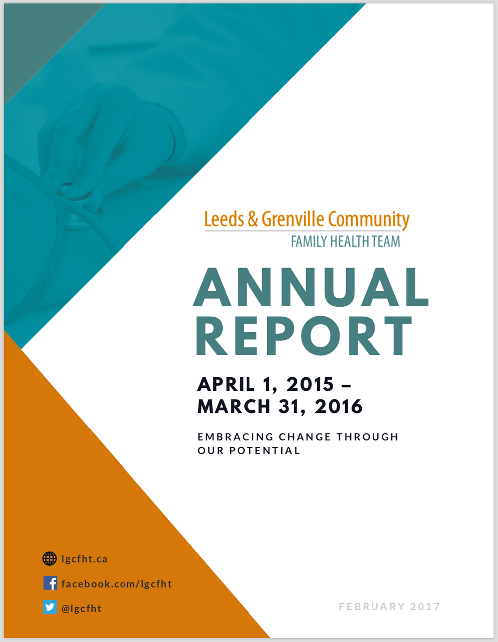 LGCFHT 2016 Annual Report Cover