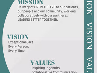 MISSION, VISION & VALUES!