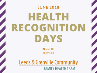 Health Recognition Days: June 2018