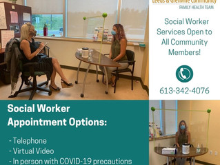 Social Worker Services Open to All Community Members!