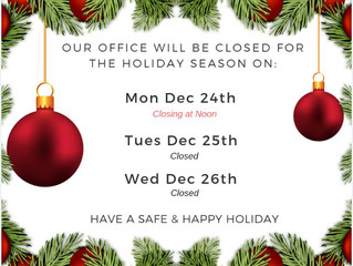 LGCFHT Holiday Hours