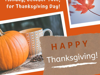 Offices closed for Thanksgiving!