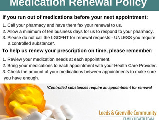 Medication Renewal Policy