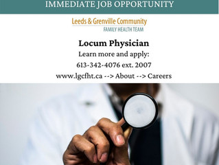 Currently Recruiting for a Locum Physician!